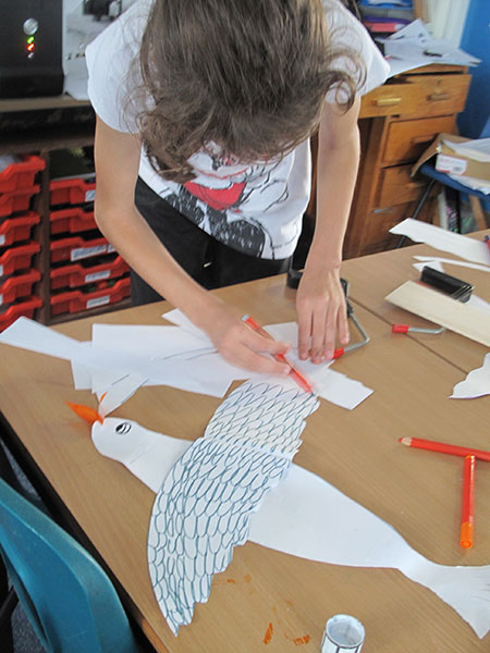 32. I am making a seagull which is very cornish!